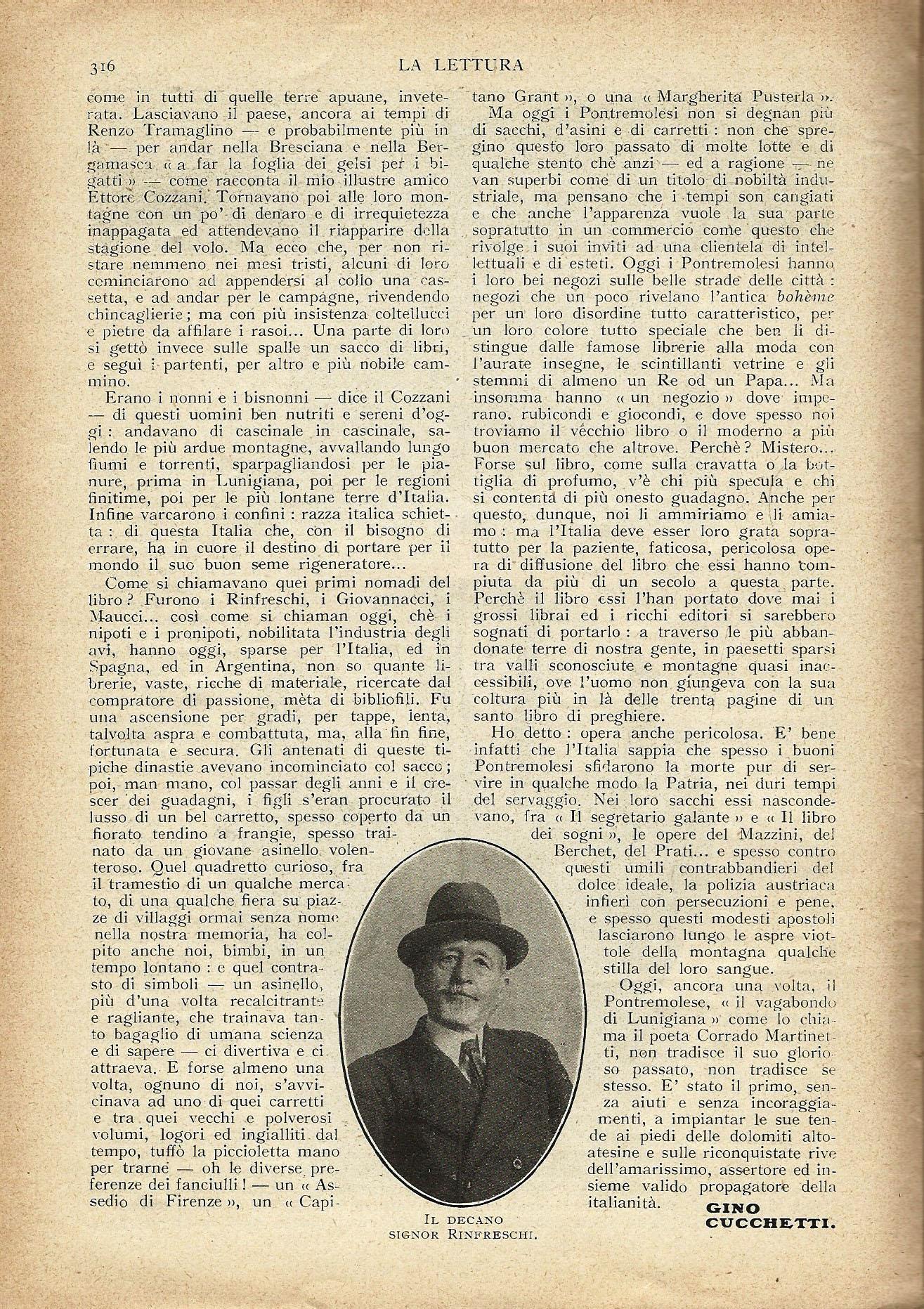 Da La Lettura del 1926: Il Paese dei Librai randagi p. 3