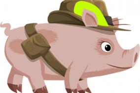 disegno maialino militare
