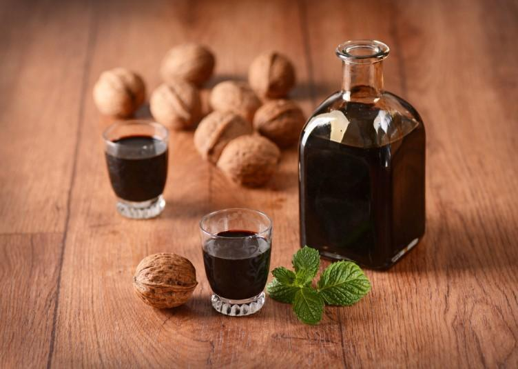 nocino in the bottle - Traditional Italian liqueur
