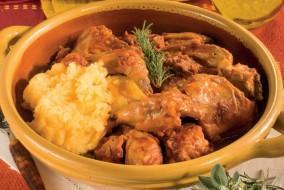 pollo polenta